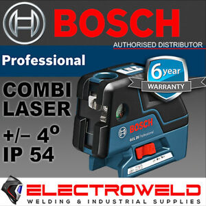 *BOSCH COMBI 5 POINT CROSS LINE LASER LEVEL* SELF LEVELLING GCL 25 PROFESSIONAL