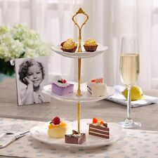 Cupcake Stand Stainless steel Round Wedding Birthday Cake Display Tower 2/3 Tier