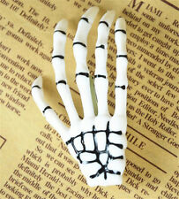 2x White Skeleton Hand Bone Hair Clips Hairpins Punk Zombie Halloween Party