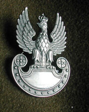 BEAUTIFULL Polish ARMY BADGE -- WHITE EAGLE  with the CROWN -  NEW badge for cap