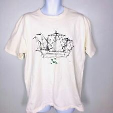 Vintage Anvil Mens Top Sz Xl White T-Shirt Logo Discover the Nina Casual