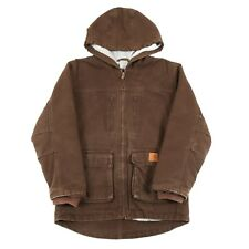 CARHARTT Fleece-Lined Hooded Chore Coat | Boy's M | Jacket Hoodie Work Vintage