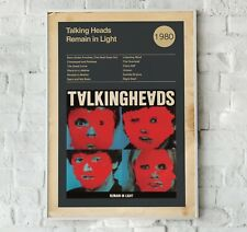 Talking Heads Album Cover Print, Album cover Wall Art, Remain in Light Print