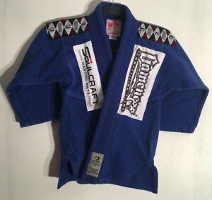 Gameness Kids Gi Blue Martial Arts Size 000 Blue MMA Boys Girls