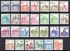 Germany Castles -THE COMPETE SET of 27 inc. booklet 3 perfs MINT NEVER HINGED st