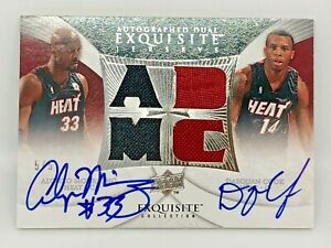 07-08 Autographed Dual Exquisite Jersey - ALONZO MOURNING & D. COOK #ed Low 5/5