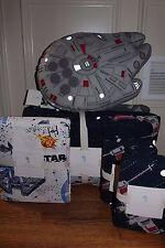 Pottery Barn Kids Star Wars Millennium Falcon Full quilt, 2 sham, sheet & pillow