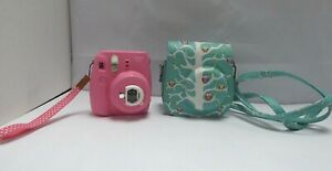 Fujifilm Instax Mini 9 Instant Camera in Pink and Green Owl Case Children's C13