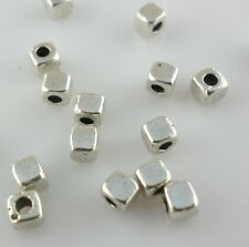 120pcs Tibetan Silver Square Cube Spacer Beads 3mm DIY Jewelry Beading Making