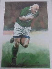 Irish Rugby Union Legends Picture Keith Wood Limited Edition Print 21/100 Signed