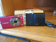 Canon PowerShot  A2300 Red 16.0MP Digital Camera Battery Charger SD Card & Box