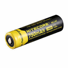 NITECORE 14500 Rechargeable Battery 750mah PartNo Nl147 Single Unit Bynitecor