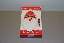 One Santa Santa Snack Plate with Spreader Christmas Nib - Fitz & Floyd