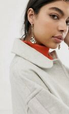 ASOS DESIGN earrings in open link chain drop with molten disc in gold tone