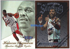 (2) FINEST/FLAIR SHOWCASE ROW 3: HAKEEM OLAJUWON #63/28 ROCKETS PREMIUM CARD LOT