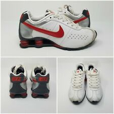 Nike Shox White Leather Cherry Running Sneakers Shoes 343907-143 Women's Size 8