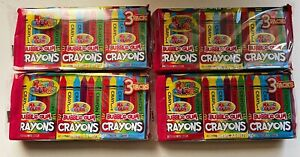 Lot Of 4 New Packages Of 3 Boxes Each Bubble Gum Crayons 2.5 Oz Each Magic Color