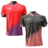 2019 New Li Ning Quick-drying men's Tops table tennis clothes T shirt