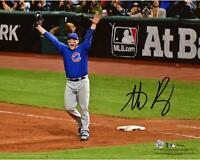 Anthony Rizzo Cubs 2016 MLB WS Champs Signed 8x10 WS Last Out Celebration Photo
