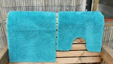 NEW BATH AND TOILET MAT BATHROOM TURQUOISE TUFTED SOFT NON SLIP BACK LATEX