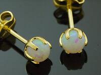 585 Gold Ohrstecker mit Opal Kugel 5mm Grösse mit Krappenfassung