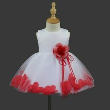 Flower Girl Kids Toddler Baby Princess Party Wedding Lace Tulle Skirt Tutu Dress