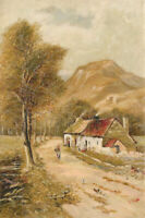 T. Lewis - 1899 Oil, Highland Cottages