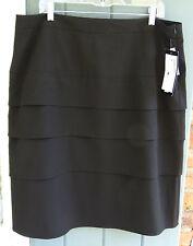 Sandro Woman 16W Black Pencil Straight Stretch Fabric Medium weight Skirt NWT