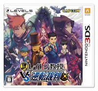 USED Professor Layton VS Ace Attorney 3DS japan.ver