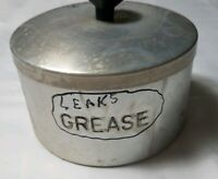 Vintage Silver Aluminum Grease Can Lid Old Round Collectible Canister
