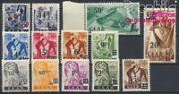Saarland 226II-238II postfrisch 1947 Berufe und Ansichten (8894320