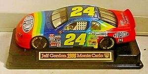 JEFF GORDON #24 1998 MONTE CARLO DIE CAST CAR ON STAND-1:43 -PRE-OWNED