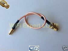 1x SMA Female to MCX Male STRAIGHT RG316 Pigtail 4 6 8 10 12 14 16 20 INCH US