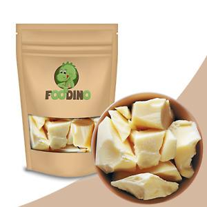 Kakaobutter Stücke 100% rein nicht desodoriert zum Backen,Kochen & Kosmetik 250g