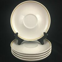 Set of 5 VTG Saucer Plates by Franciscan Whitestone Ware ANTIGUA Made in Japan