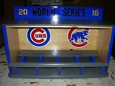 Bobbleheads display case Cubs  Dugout  style