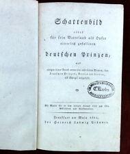 Hoffmann SCHATTENBILD Vaterland Prinz, EA 1814 Karl Prinz Viktor von zu Wied