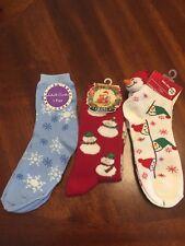 NWT Womens 3 Pairs of Christmas Socks