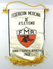 #e6472 Schöner alter Wimpel Federacion Mexicana de Atletismo F.M.A. 1968