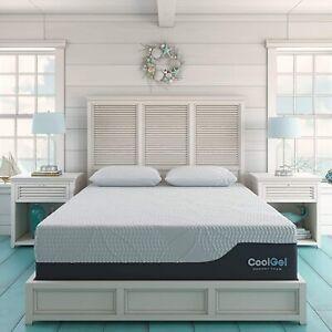 14In King Ultimate Gel Memory Foam Mattress 2 Pillows Medium Firm CertiPUR-US