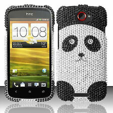 T-Mobile HTC ONE S Crystal Diamond BLING Hard Case Phone Cover Panda