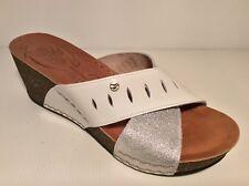 FLY FLOT 33B03 sandalo Ciabatta da donna vera pelle zeppa comoda