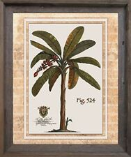 Tropical Palm Tree Landscape Bathroom Wall Decor Barnwood Framed Picture (19x23)