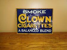 "VINTAGE ORIGINAL ""CLOWN"" CIGARETTES ADVERTISING SIGN 1930s ERA GOOD COLOR/GRAPHS"