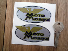 MOTO MORINI Oval Motorcycle STICKERS 90mm Pair Autocollant Classic Bike