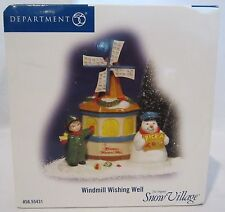 Dept 56 Snow Village Windmill Wishing Well Accessory Figurine