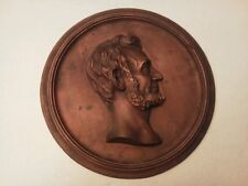 """Lincoln Cast Metal Plaque Compliments of Foster Merriam Co. Merriam CT  11 1/4"""""""