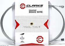 Clarks Universal Brake Cable 2000mm 1.5mm Road / Mountain Bike Galvanized Steel