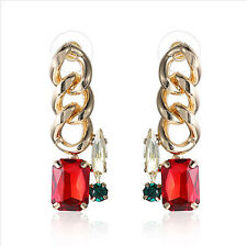 MARNI H&M  Red Square Earrings