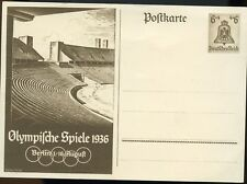 1936 Olympic Postcard Berlin Germany -  Vintage ( Very Rare ) Ex/EX+ Cond.